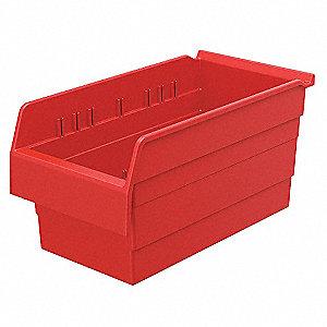 SHELF BIN 15-5/8 X 8 281 X8 RED