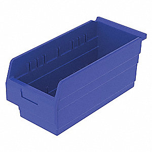 SHELF BIN 17-5/8 X 8 281 X 8 BLUE
