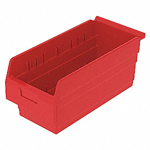 SHELF BIN 17-5/8 X 8 281 X 8 RED