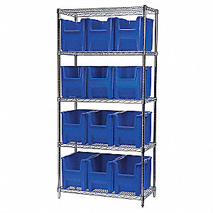 WIRE SHELVING (12) 13014 BLUE BIST