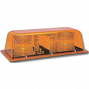 LIGHT-BAR LED MINI AMBER 12V