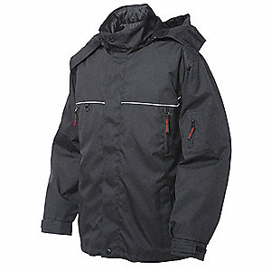 Parka, Insulated, Black, S