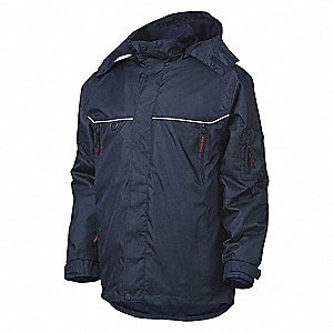 Parka, Insulated, Navy, 2XL