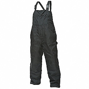 "Men's Insulated Bib Overalls, Lining Material: Quilted 6 oz. Polyester Insulation, Inseam: 32"", Fits"