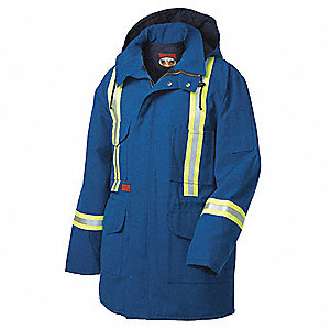 Flame Resistant Parka,Insulated,Blue,S