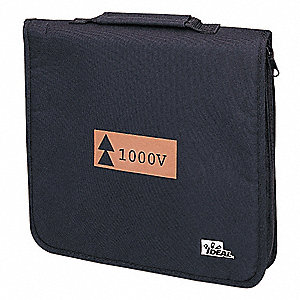 "Soft Zippered Tool Case, Black Nylon, 2"" Height, 14"" Width, 13"" Depth"
