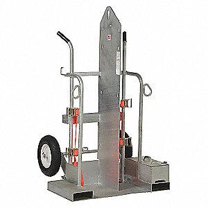 Cylinder Hand Truck,500 lbs.,2 Cylinder
