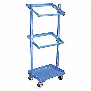 Stock Cart,200 Lb Cap,3 Shelf