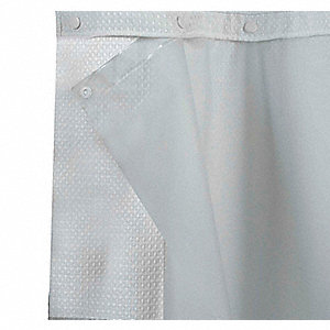 HOOKLESS 57H X 70W PEVA Shower Curtain Liner Frost Snap In