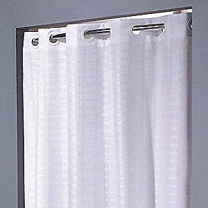 Shower Curtain,White,74 In L,42 In W