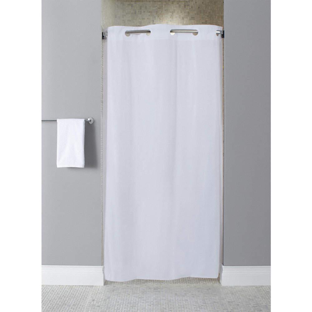 HOOKLESS Shower Curtain,White,74 In L,42 In W - 46Y263 ...