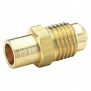 BRASS FLARE TO SOLDER CONNECTOR