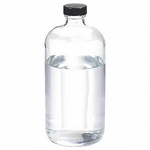 Narrow Mouth Round Bottle, Glass, Clear, 12 PK
