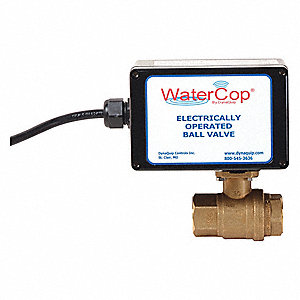 "Lead Free Brass Electronic Actuated Ball Valve, 1"" Pipe Size, 120VAC Voltage"