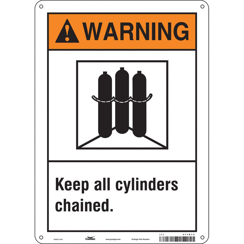 Condor Chemical Gas Or Hazardous Materials Warning Aluminum 14