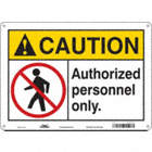 Caution: Authorized Personnel Only. Signs