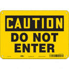 Caution: Do Not Enter Signs
