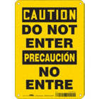Caution/Precaucion: Do Not Enter/No Entre Signs