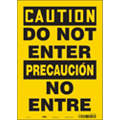 "Authorized Personnel and Restricted Access, Caution, Vinyl, 14"" x 10"", Adhesive Surface"