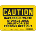 "Authorized Personnel and Restricted Access, Caution, Vinyl, 7"" x 10"", Adhesive Surface"