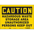 "Authorized Personnel and Restricted Access, Caution, Vinyl, 10"" x 14"", Adhesive Surface"