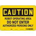 "Authorized Personnel and Restricted Access, Caution, Aluminum, 7"" x 10"", With Mounting Holes"
