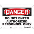 Danger: Do Not Enter Authorized Personnel Only Signs