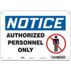 Notice: Authorized Personnel Only Signs