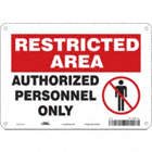 Restricted Area: Authorized Personnel Only Signs
