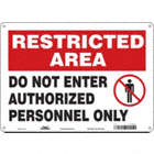 Restricted Area: Do Not Enter Authorized Personnel Only Signs