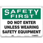 Safety First: Do Not Enter Unless Wearing Safety Equipment Signs