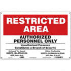 Restricted Area: Authorized Personnel Only Unauthorized Presence Constitutes A Breach Of Security On Board Vessel 33Cfr 104.270(C)(6) Isps Part B 9.20 Within The Facility 33Cfr 105.260(B)&(C)(6) Isps Part B 15.23 Signs