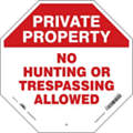 "Trespassing and Property, No Header, Plastic, 24"" x 24"", With Mounting Holes, Not Retroreflective"