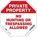 "Trespassing and Property, No Header, Vinyl, 18"" x 18"", Adhesive Surface, Not Retroreflective"