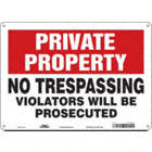 Private Property: No Trespassing Violators Will Be Prosecuted Signs