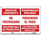 Private Property/Propiedad Privada : No Trespassing Violators Will Be Prosecuted/Propiedad Privada Prohibdo El Paso Los Infractores Seran Procesadas Ante La Ley Signs