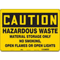 "No Smoking, Caution, Fiberglass, 14"" x 20"", With Mounting Holes, Not Retroreflective"