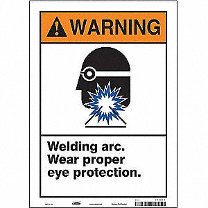 Welding Arc Wear Proper Eye Protection Industrial Signs