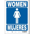 Women/Mujeres Restroom Signs