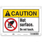 Caution: Hot Surface. Do Not Touch. Signs