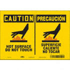 Caution/Precaucion: Hot Surface Do Not Touch/Superficic Caliente No Tocar Signs