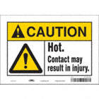 Caution: Hot. Contact May Result In Injury. Signs