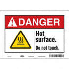Danger: Hot Surface. Do Not Touch. Signs