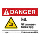 Danger: Hot. Will Cause Severe Burns Or Injury. Signs