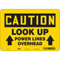 "Electrical Hazard, Caution, Aluminum, 7"" x 10"", With Mounting Holes, Not Retroreflective"