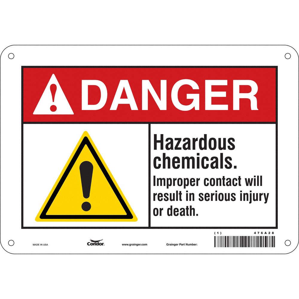 Condor Chemical Gas Or Hazardous Materials Danger Aluminum 7 X