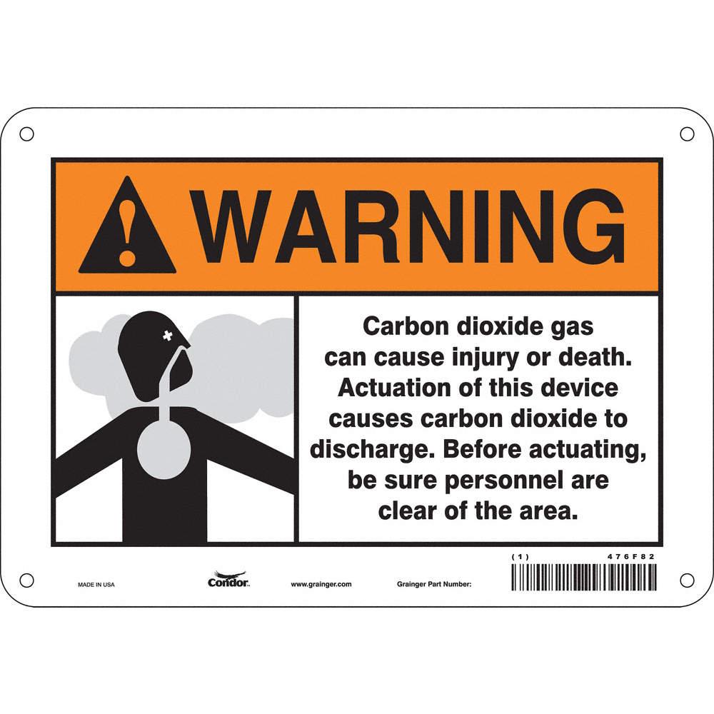 Condor Chemical Gas Or Hazardous Materials Warning Aluminum 7 X
