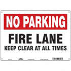 No Parking: Fire Lane Keep Clear At All Times Signs