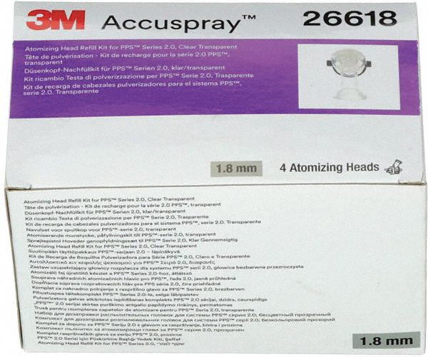 Clear Head Refill, Atomizing Type, PK4