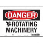 Danger: Rotating Machinery Signs